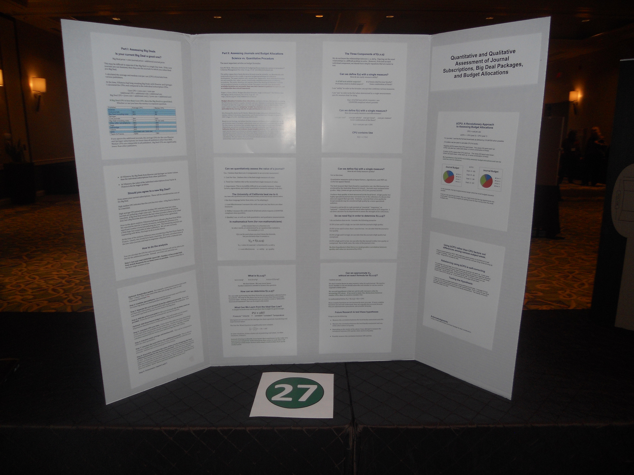 2012 Posters – Library Assessment Conference